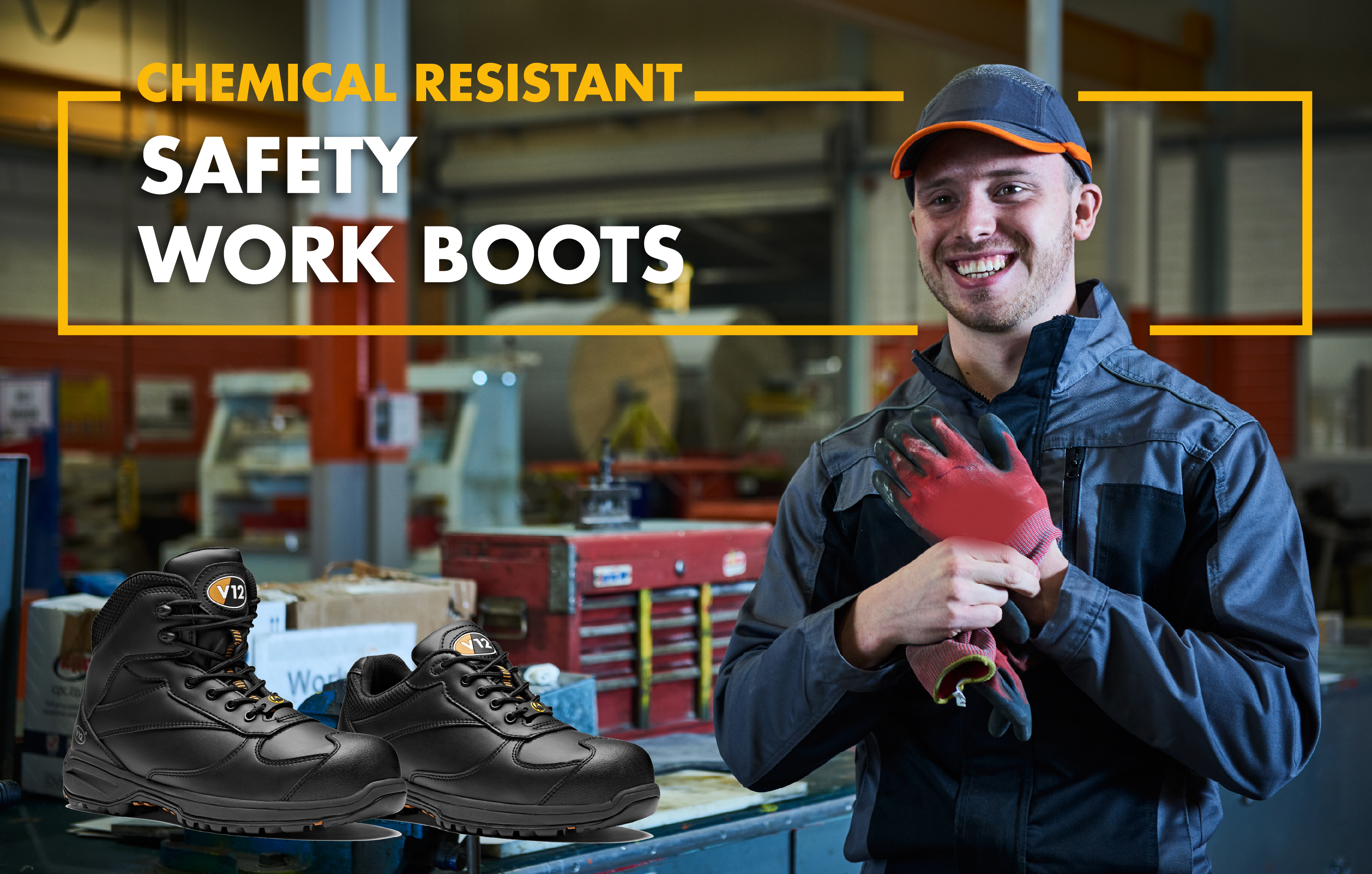 Chemical Resistant Safety Work Boots | V12 Footwear