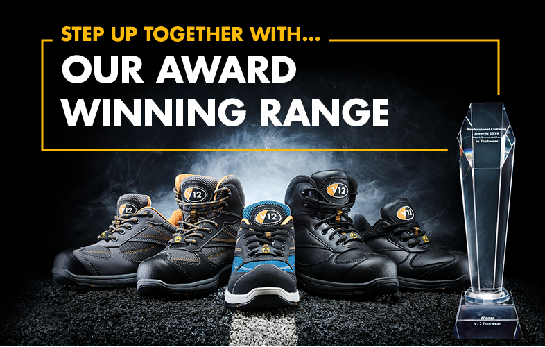V12 safety trainers win 'best innovation in footwear' award