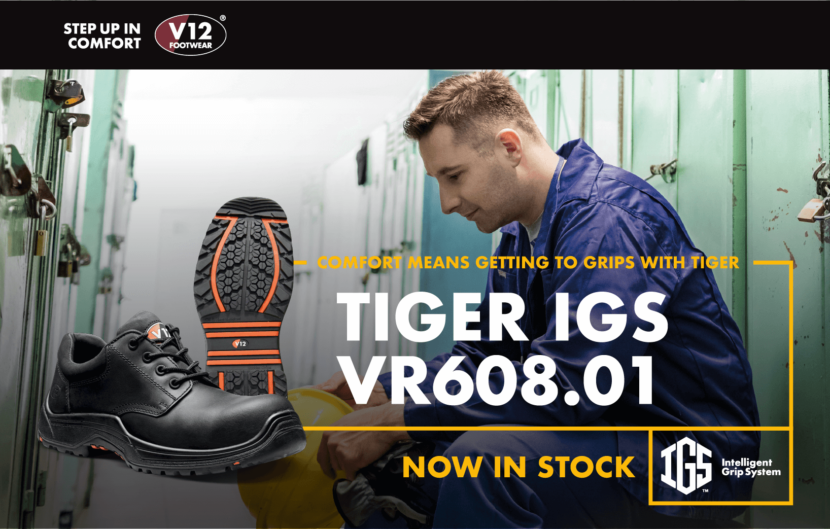 The best slip resistant shoe | the VR608.01 Tiger IGS