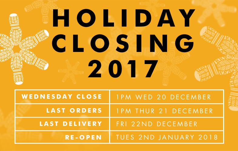 Christmas Closing Times 2018